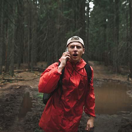 chování v lese